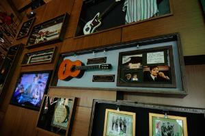 Hawaii Five-0 Jack Lord Guitar and Badge at the Hard Rock Cafe Honolulu