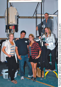 Kathryn Morrison Pahoa and wardrobe staff