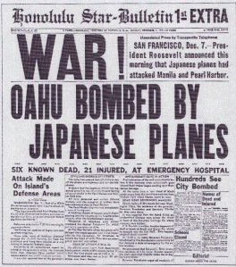 Pearl Harbor Attack in the Honolulu Star -Bulletin