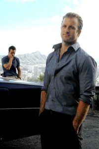 Scott Caan and Alex O'Loughlin, Tantalus Lookout, Hawaii Five-0
