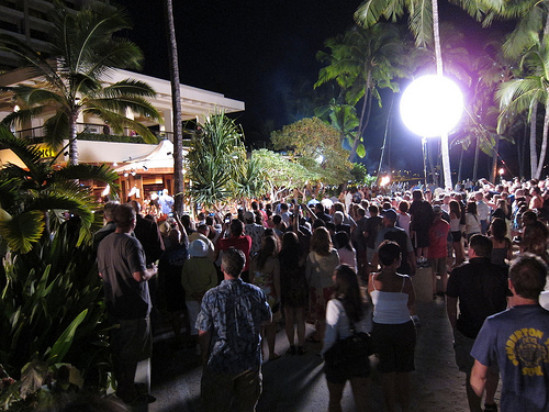 Hawaii Five-0 filming at the Hilton Hawaiian Village