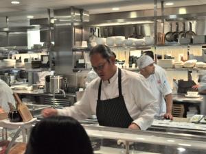 Chef Morimoto at work.
