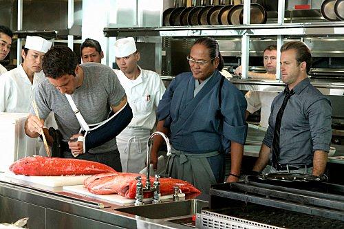 Chef Morimoto, Alex O'Loughlin, Scott Caan, Hawaii Five-0