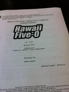 Hawaii Five-0 Season 2 Script