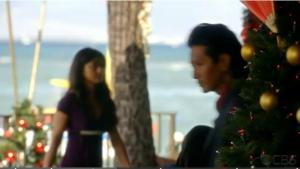 Yen Phan on Hawaii Five-0 set with Will Yun Lee as Sang Min.