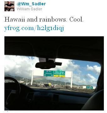 @wm_sadler on twitter, crusing the freeway and enjoying rainbows.