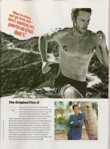 Alex O'Loughlin in Men's Fitness magazine