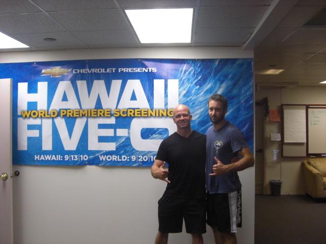 Alex O'Loughlin and Jeff Blair.  (Photo: Jeff Blair)
