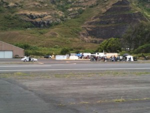 Hawaii Five-0 at Dillingham airfield 8/3/11.