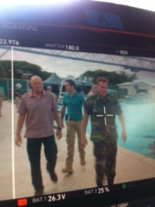 Behind the scenes at Marine Corps Base Hawaii, filming 8/2/11. (Photo: @PLenkov)