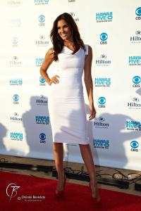 Daniela Ruah at the Hawaii Five-0 season 2  Sunset on the Beach premiere.  (Photo: Orlando Benedicto)