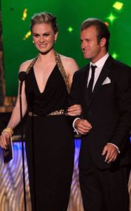 Scott Caan and Anna Paquin at  the 63rd Emmy's.  (Photo: FOX/ATAS)